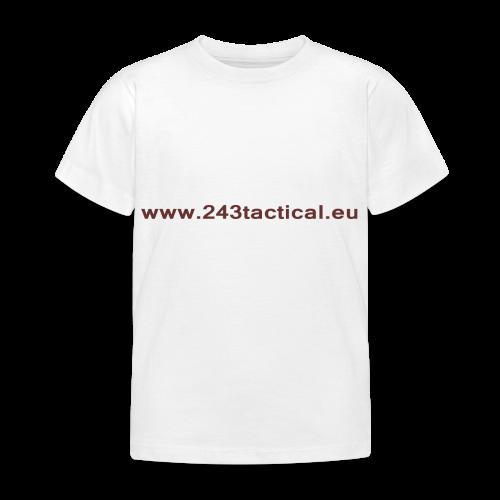 .243 Tactical Website - Kinderen T-shirt