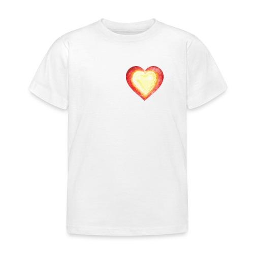 Burning Fire Heart - Kids' T-Shirt