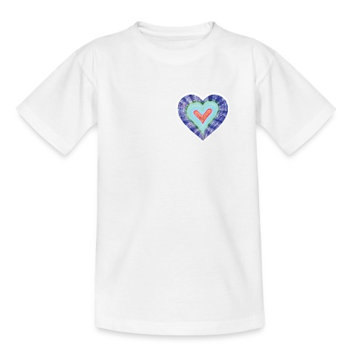 HeartSpread 18Little red heart in a green garden - Kids' T-Shirt