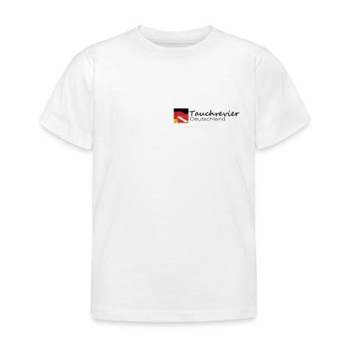 Tauchrevier Deutschland Logo classic schwarz - Kinder T-Shirt