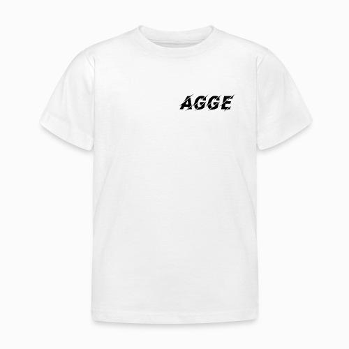 Agge - Svart Logga | Fram - T-shirt barn