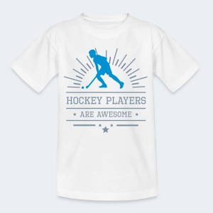 Hockeyplayers are Awesome , blue - Kinder T-Shirt
