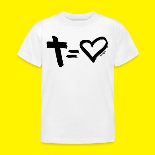 Cross = Heart BLACK - Kids' T-Shirt