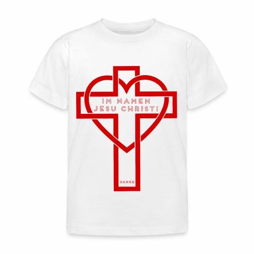 Im Namen JESU CHRISTI - rot - Kinder T-Shirt