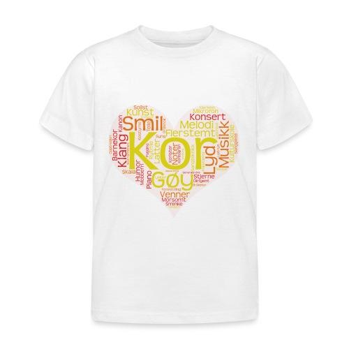 Barnekoret-4000 - T-skjorte for barn