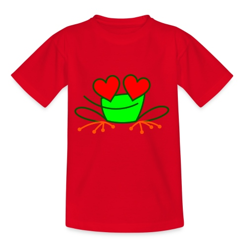Frog in Love - Kids' T-Shirt