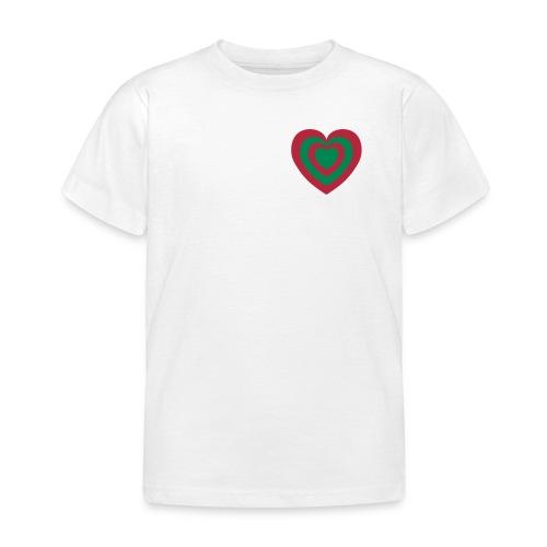 cuore Rosso-Verde - Maglietta per bambini