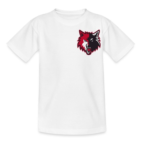 wolves logo bulls colors png - Kids' T-Shirt
