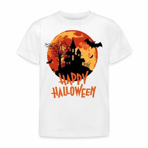 Bloodmoon Haunted House Halloween Design - Kinder T-Shirt