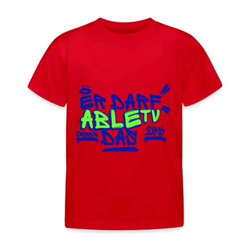 AbleTV Grafitti Logo Marken Shirt (Er Darf Das) - Kinder T-Shirt
