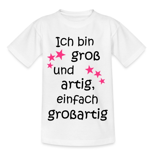 Ich bin gross und artig = großartig pink - Kinder T-Shirt