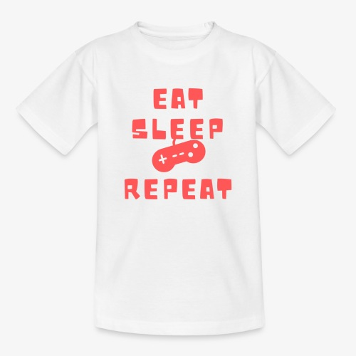 Eat Sleep Game Repeat - Kids' T-Shirt