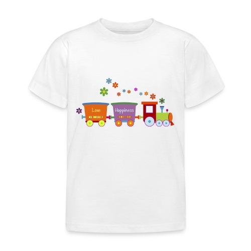 Eisenbahn Kinderspielzeug Zug Frühlingsblumen bunt - Kids' T-Shirt