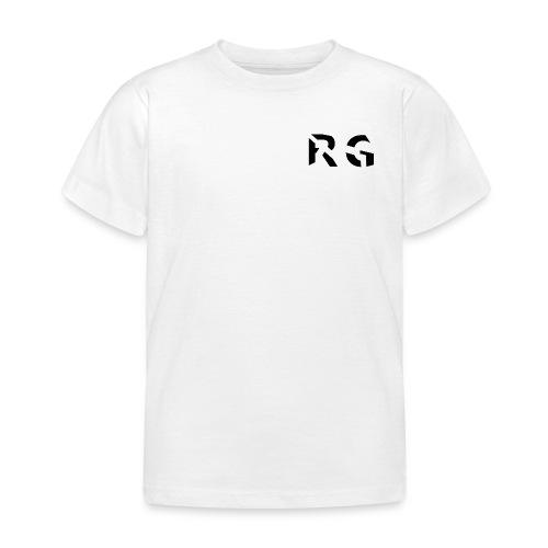 RG Zwart logo - Kinderen T-shirt