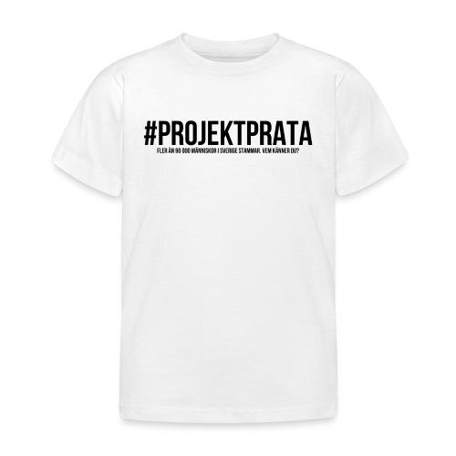 #Projektprata VIT/GRÅ - T-shirt barn