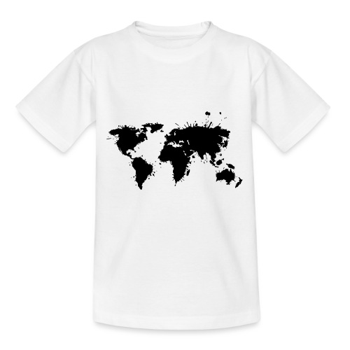 Weltkarte Splash - Kinder T-Shirt