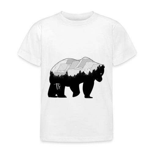 Geometric Mountain Bear - Maglietta per bambini