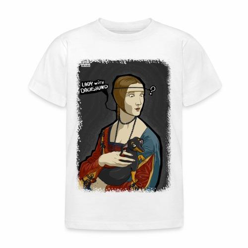 Lady with dachshund - Koszulka dziecięca