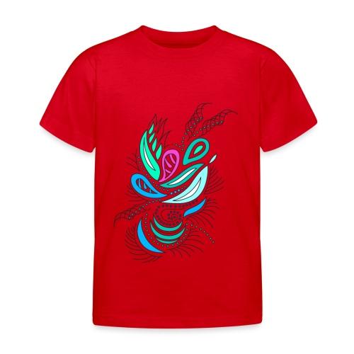 astratto foglie multicolore - Maglietta per bambini