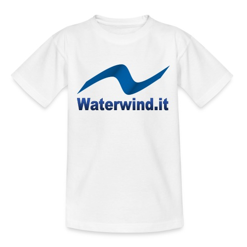 logo waterwindpuntoit no sfondo png - Kids' T-Shirt