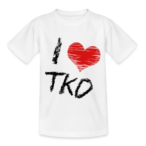 I love tkd letras negras - Camiseta niño