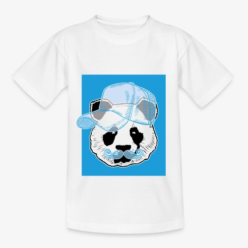 Panda - Cap - Mustache - Kinder T-Shirt