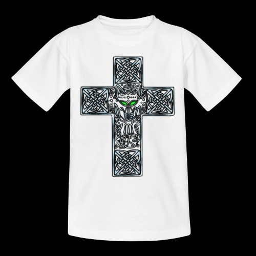 Wolf s Head Cross Silver - Kids' T-Shirt