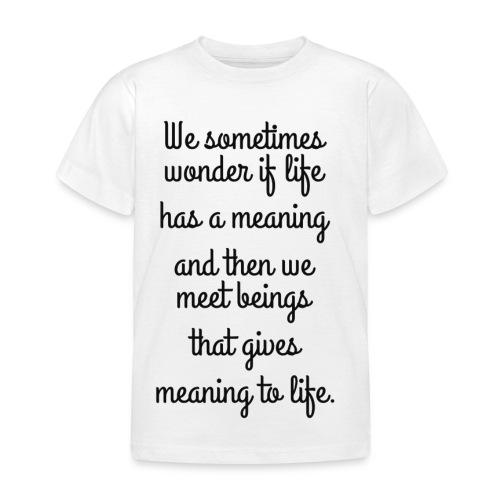 Phrase d'amour en anglais - T-shirt Enfant