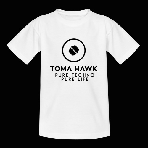 Toma Hawk - Pure Techno - Pure Life Black - Kinder T-Shirt