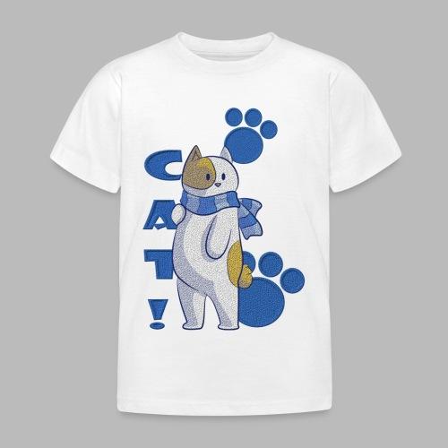 gato lindo con bufada, gato divertido - Camiseta niño