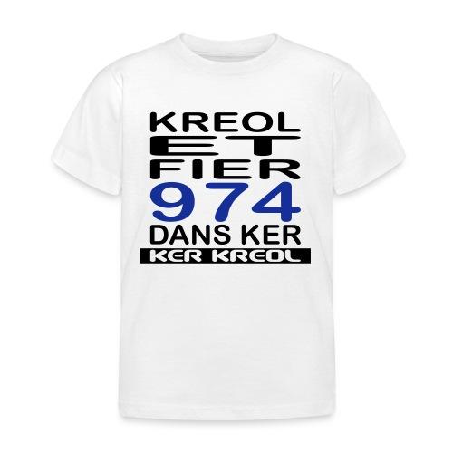 974 ker kreol - Kreole et Fier - T-shirt Enfant