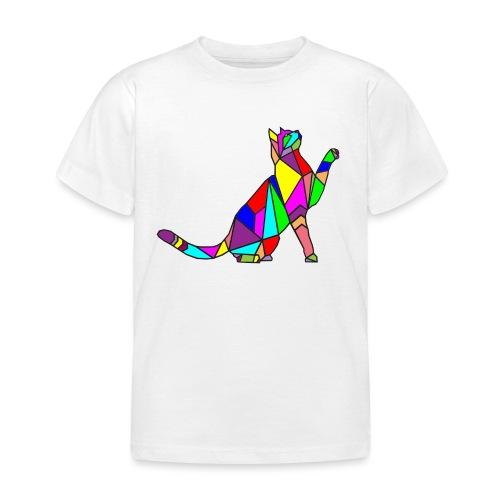 composizione di arte animale animale domestico colori gatto - Maglietta per bambini