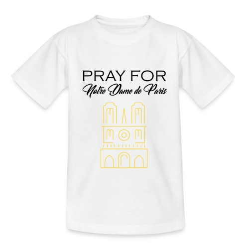 Pray For Notre Dame de Paris - T-shirt Enfant