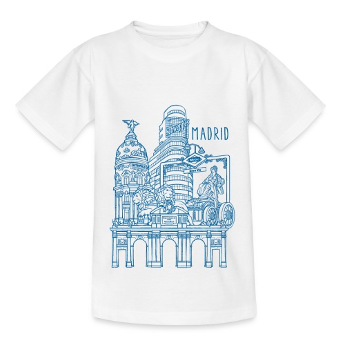 MADRID COLLAGE AZUL - Camiseta niño