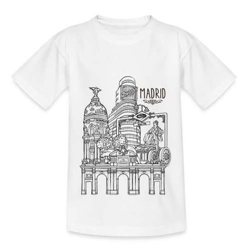 MADRID COLLAGE NEGRO - Camiseta niño