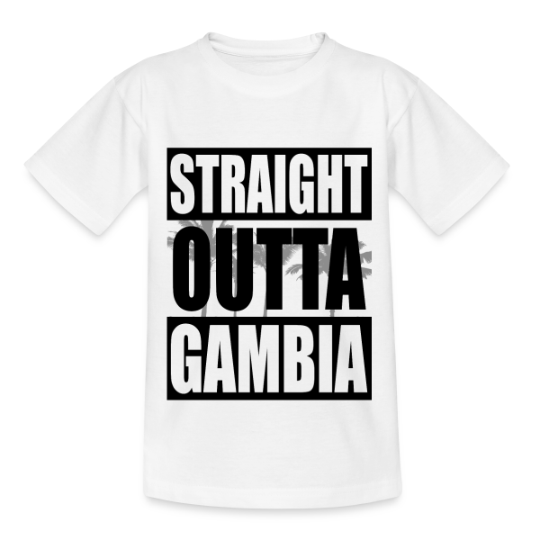 Straight Outta Gambia - Kinder T-Shirt