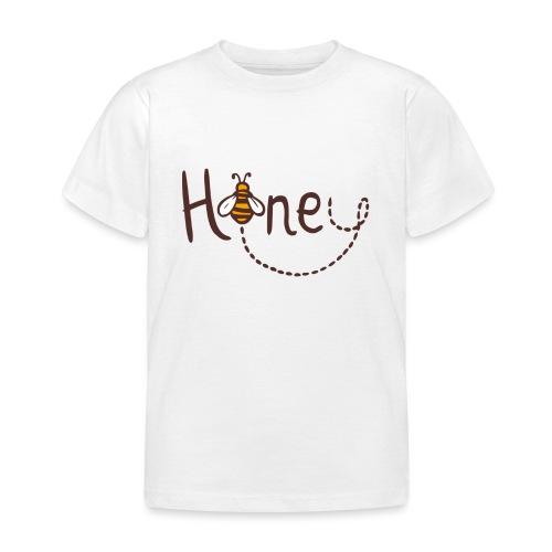 Honey Logo Druck mit Biene - Kinder T-Shirt