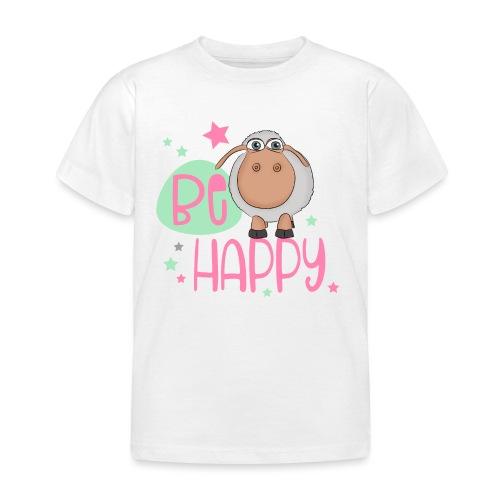 Be happy Schaf - Glückliches Schaf - Glücksschaf - Kinder T-Shirt