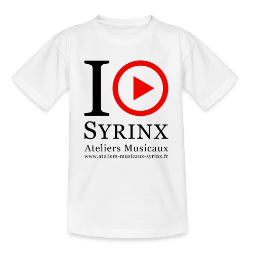 Logo IPSyrinx White Line - T-shirt Enfant