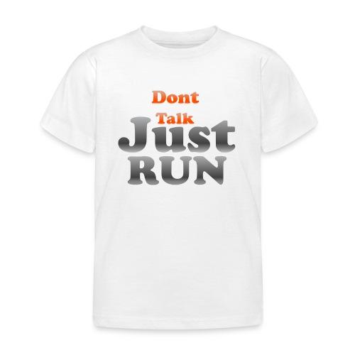 Just Run Limited Shirt, Motivation Laufen, Joggen - Kinder T-Shirt
