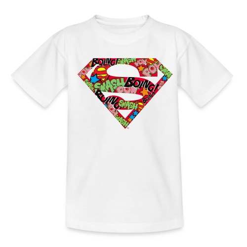 DC Comics Superman Logo Mit Lautmalerei - Kinder T-Shirt