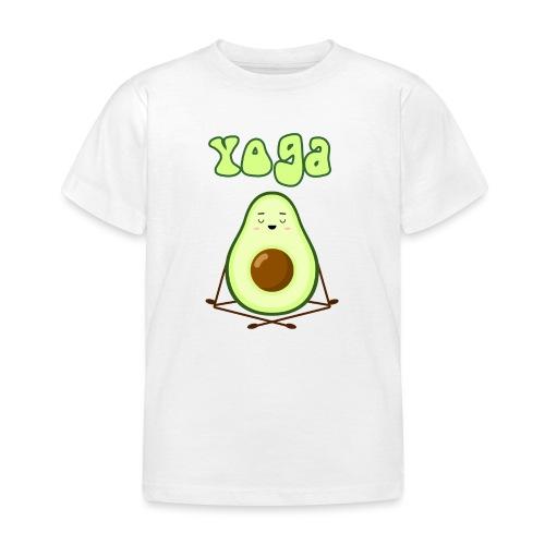 yoga avocado namaste pace amore hippie relax - Maglietta per bambini