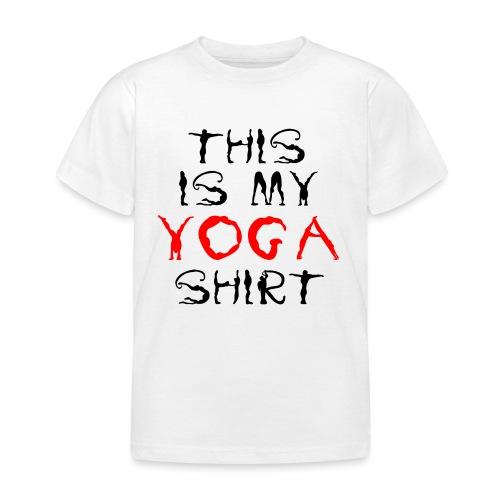 camicia yoga sport namaste spiritualità pace amore - Maglietta per bambini