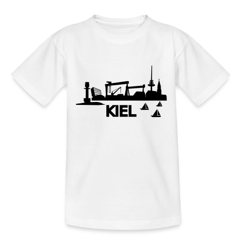 KIEL skyline - Kinder T-Shirt