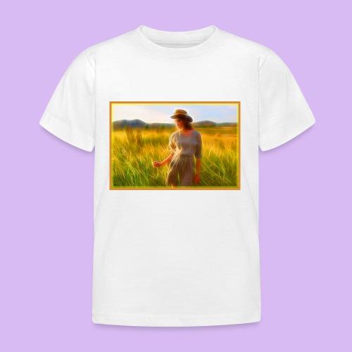 Donna tra gli steli d' erba - Maglietta per bambini