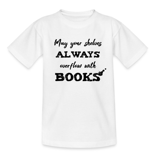 0040 Always full bookshelves | Bücherstapel - Kids' T-Shirt