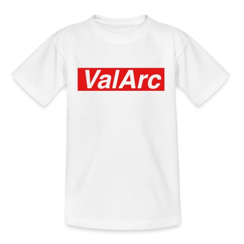 ValArc Text Merch Red Background - T-shirt Enfant
