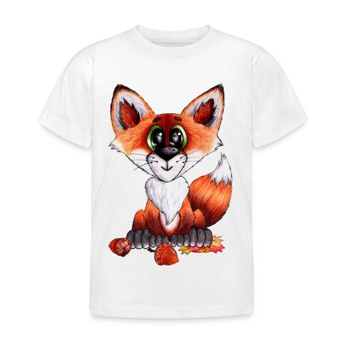 llwynogyn - a little red fox - Lasten t-paita