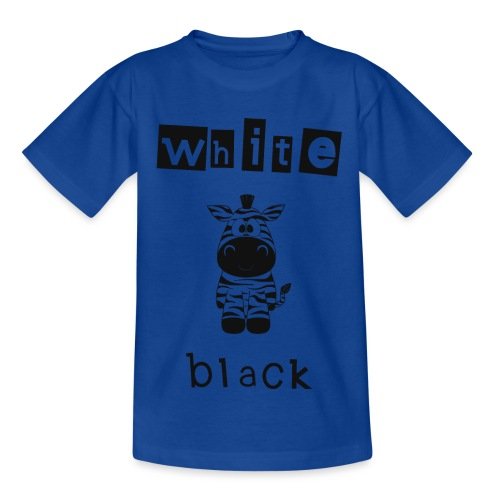 Zebra black or white - Kinder T-Shirt