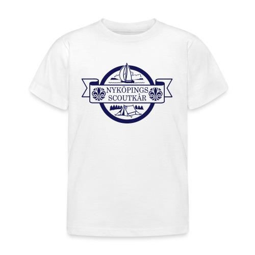 Kårlogotyp med bakgrund (blå) - T-shirt barn